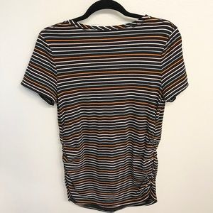 Isabel Maternity by Ingrid & Isabel Tops - Isabel Maternity Striped Black T-shirt size Large